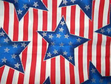 Patriotic Stars and Stripes fabric traditions. Sold by yard.