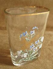 ancien verre de cure de Budapest verre soufflé émaillé peint Hongrie XIX ème