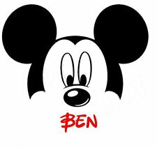 DISNEY MINNIE  MICKEY MOUSE  PERSONALIZED FABRIC/T-SHIRT IRON ON TRANSFER
