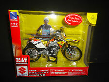 NewRay Suzuki RM-Z450 Factory Racing Dirt Bike James Stewart #7 1/12