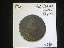 1786 New Jersey Colonial, Nova Caesarea Copper Coin, VG/F