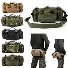 Men's Nylon Outdoor Military Tactical 3P Messenger Shoulder Fanny Pack Waist Bag
