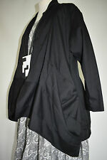 beautiful CHAMPAGNE asymmetric layering jacket/shirt   size XL/XXL  BLACK