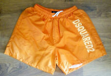 NEW DSQUARED2 MENS ORANGE SWIMING SHORTS BEACHWEAR TRUNKS BOXER, SIZE: 2XL
