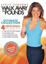 Leslie Sansone Walk Away the Pounds Ultimate Collection + Band Power Fitness NEW