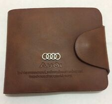Mens Audi Wallet in Brown Leather Backpack Bifold ID Holder