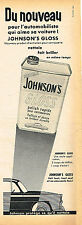 PUBLICITE ADVERTISING 035  1955 JOHNSON'S   le GLOSS POLISH
