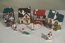 PORCELAIN VILLAGE from a CHARLES DICKENS toy  Christmas garden train table PUTZ