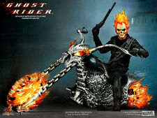 HOT TOYS 1/6 GHOST RIDER MMS133 JOHNNY BLAZE & HELL CYCLE MASTERPIECE FIGURE US