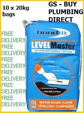 Bond It LEVELMASTER SELF LEVEL FLOOR LEVELLING COMPOUND 20KG GREY x 10 bags