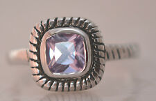 SQUARE ALEXANDRITE JUNE BIRTHSTONE RING  Genuine Sterling Silver.925 Size 7