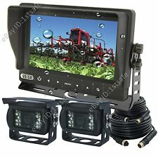 "TRACTOR 7"" DIGITAL BACK UP CAMERA SYSTEM, WATERPROOF MONITOR+2 REAR VIEW CAMERAS"