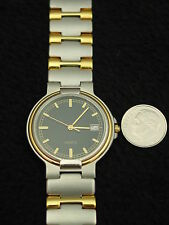 NEW Vintage French Gerrard Phillipe Men's Watch Stainless & Gold Swiss 7 Jewel