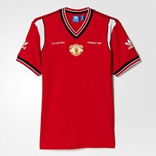 ADIDAS ORIGINALS MANCHESTER UNITED 1985 JERSEY MEN'S T-SHIRT SIZE L RED AI7404