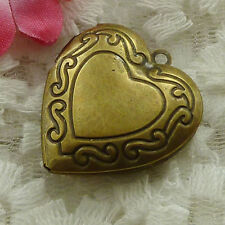 Free Ship 18 pieces bronze plated heart pendant 48x27mm #1647