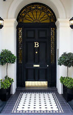 SOLID BRASS DOOR KNOCKER | MONOGRAM B | including matching BRASS SCRE
