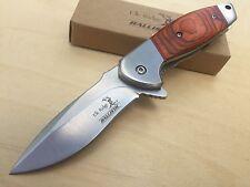 """Elk Ridge 8"""" Spring Assisted Folding Pocket Hunting Knife Drop Point Blade"""