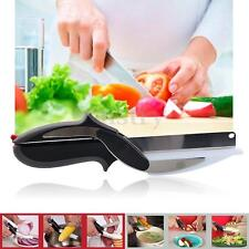 Multifunctional Knife Clever Cutter 2-in-1 Food Vegetable Cutting Board Scissors