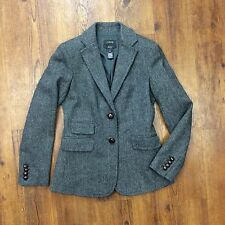 J. Crew Women's Sz 2 Hacking Herringbone Wool Blazer Suit Jacket NEW