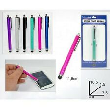 1 STYLET POUR ECRAN TACTILE SMARTPHONE TABLETTE IPHONE COLORE 12 CM