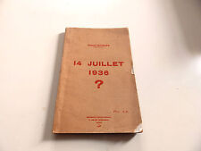HUBERT GUIGUES 14 JUILLET 1936 EDT 1936 CABASSON TOULON DEDICACE A MR  AZAN