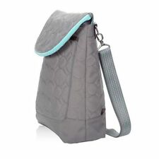 Thirty One Vary You Backpack Purse - Gray Quilted Dots