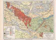 GEOLOGISCHE Karte THÜRINGER WALD von 1897 THÜRINGEN Tertiär Trias Devon Silur