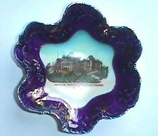 Antique TORONTO CANADA dish w/ COLORFUL pic Old PROVINCIAL PARLIAMENT Buildings
