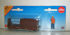 SIKU 1664 Miniature RAIL FREIGHT WAGON 9.5cm Long - Diecast with Plastic Parts