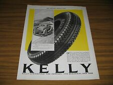 1930 Print Ad Kelly-Springfield Tires Man Runs Out of Gas Old Car New York