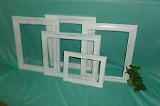 LOT OF 5 WHITE DISTRESSED OPEN FACE PICTURE FRAMES-WEDDING BEACH, CHIC french #M