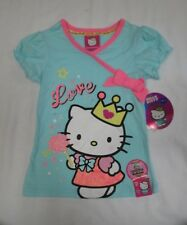 "Hello Kitty Girls' ""Lets Play"" Queen Kitty Bow Top sz 4"