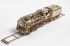BUILD YOUR OWN  - 460 LOCOMOTIVE & Tender 3D Mechanical Wooden Models & Puzzles