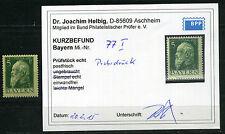 Bayern 5 Pfg. Luitpold 1911** Probedruck Michel 77 I Befund (S10717)