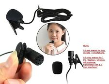 Collar Mic with Noise Filter Clip-on 3.5mm Tie Mic Microphone for Smartusers