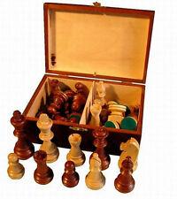 Schachfiguren aus Holz Staunton Nr 6 im Holzkistchen