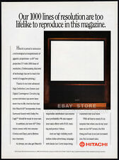"HITACHI__60"" REAR PROJECTION TV__Original 1991 Trade Print AD promo / poster"
