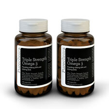 Triple Strength Omega-3 1000mg. 1 year supply. Concentrated DHA & EPA 650mg/cap