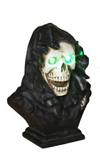 Halloween LED Light up SKULL Grim Reaper Figurine Eyes Change Colors & Effects