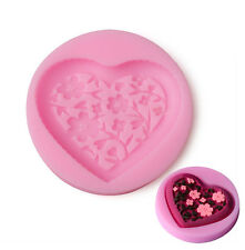 New Silicone Fondant Cake Mold Heart Floral Jewelry Sugar Craft Cake Mould