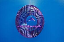 Windspierale, Unruhe, Deko, Windspiel Twister mit Delphin  ca. 20 cm in Lila