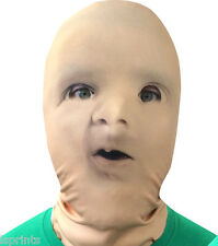 BABY FACE 3D EFFECT FACE SKIN LYCRA FABRIC FACE MASK HALLOWEEN GRIM REAPER