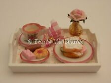 Dolls house food: Shabby chic lunch tray -By Fran