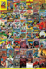 Marvel POSTER Comic Covers 70th Anniversary Celebration Wall Art BRAND NEW