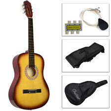 Acoustic Guitar W/Guitar Case, Strap, Tuner and Pick For New Beginners Yell