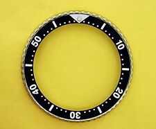 "SEIKO BEZEL W/ INSERT BLACK ""1"" FOR 6309 7040, 7290, 6306, 7002 & 7548 WATCH #83"