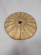 "3&1/4"" ReCast BRASS Ribbed HEAT CAP for Old & New GLASS SHADES"