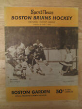 Boston 1969 BRUINS Program vs TORONTO MAPLE LEAFS Bobby Orr HODGE Phil Esposito