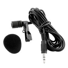 Clip-on Lapel Lavalier Microphone 3.5mm Jack For iPhone SmartPhone Recording PC