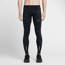 NEW NIKE MEN'S DRI-FIT TECH  ELEVATE RUNNING ATHLETIC TIGHTS PANTS BLACK SZ/ L